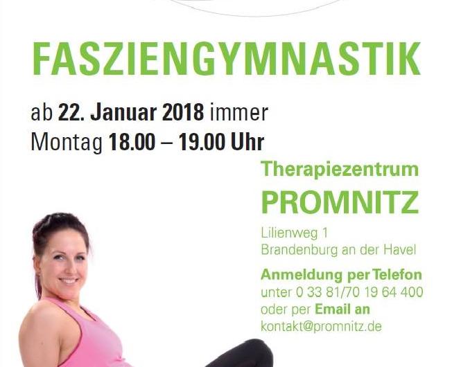 Fasziengymnastikangebot im Standort Brandenburg Altstadt Promnitz Physiotherapie