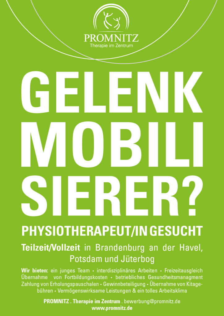 Physiotherapeut gesucht Promnitz Physiotherapie