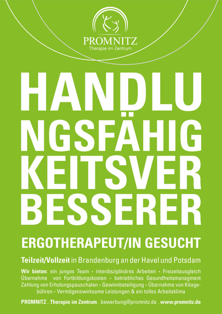 Ergotherapeut gesucht Promnitz Physiotherapie Potsdam und Brandenburg