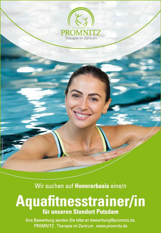 Aquafitnesstrainer gesucht Promnitz Physiotherapie
