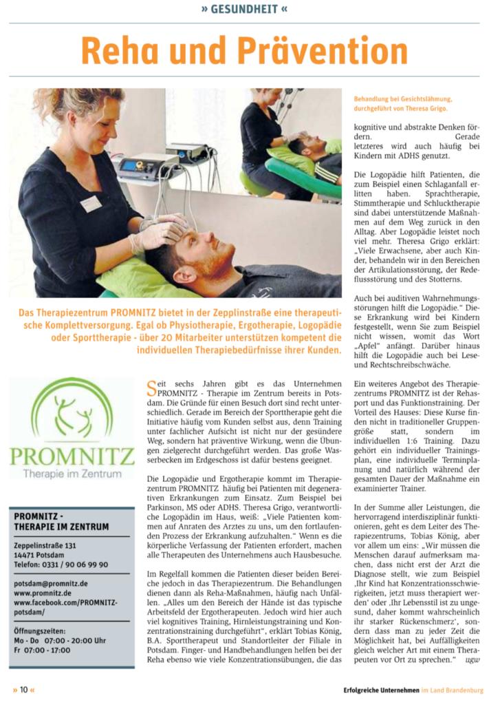 Hier finden Sie die Pressemitteilung im Blickpunkt Potsdam über unser Reha und Präventionsangebot