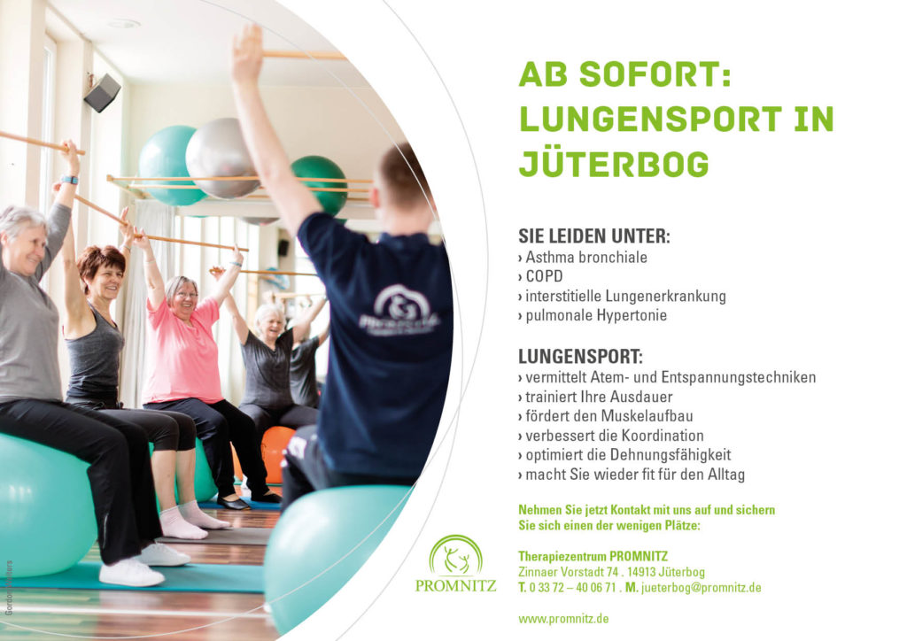 Lungensport in Jüterbog