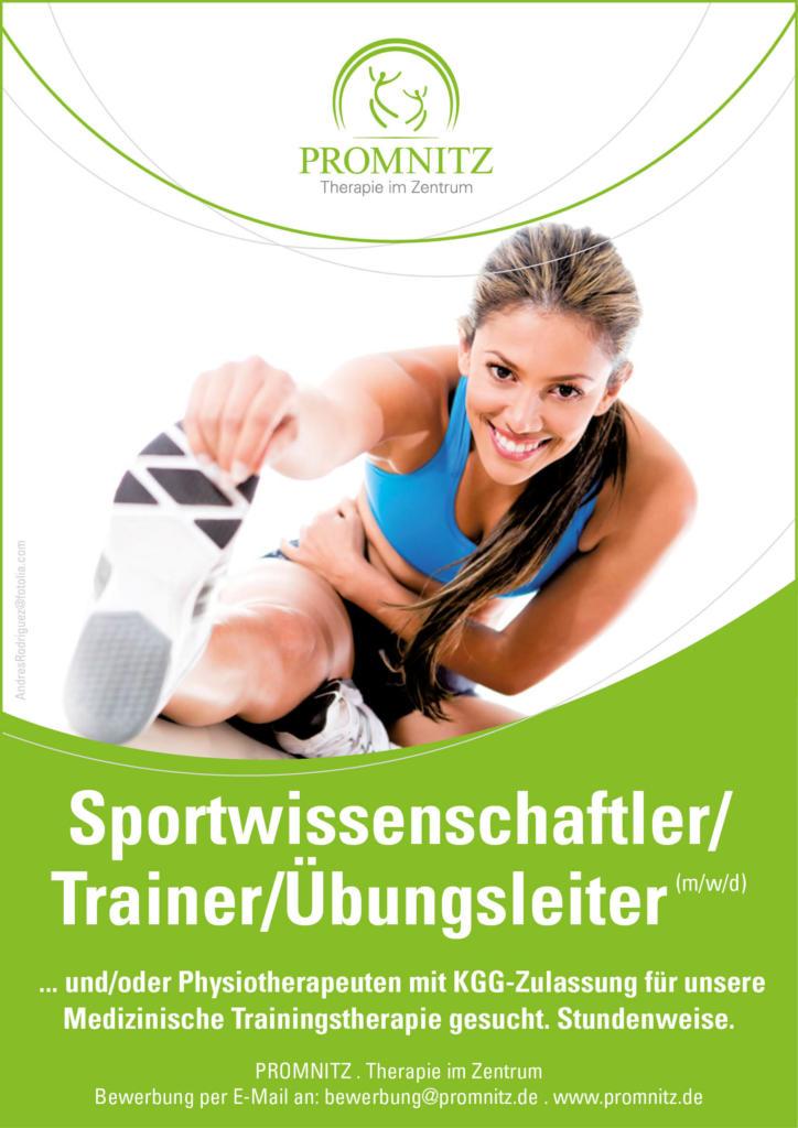 Jobangebot Sportwissenschaftler Jüterbog