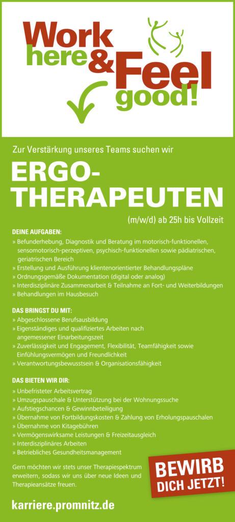 Anzeige Ergotherapeut